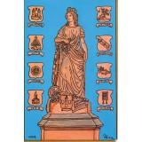 Carte postale - Statue place de la Sinne - André Friedrich - 1998