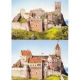 Carte postale - Château Saint-Ulrich (situation actuelle) et reconstitution du château au XVe siècle par Antoine Helbert - 2020