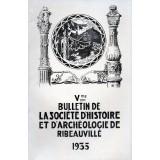 SHAR - Bulletin n° V - 1935
