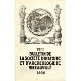 SHAR - Bulletin n° VI - 1936