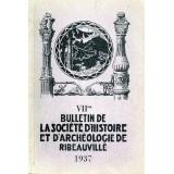 SHAR - Bulletin n° VII - 1937