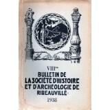 SHAR - Bulletin n° VIII - 1938