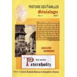 Généalogie n° 1 - Histoire des familles Petersholtz - 2007