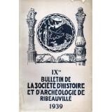 SHAR - Bulletin n° IX  – 1939