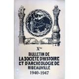 SHAR - Bulletin n° X  – 1940/1947