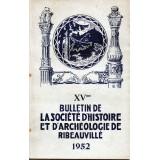 SHAR - Bulletin n° XV  – 1952
