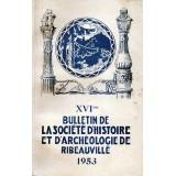 SHAR - Bulletin n° XVI  – 1953